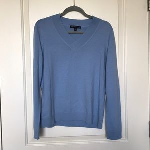"""""""346"""" BROOKS BROTHERS 100% Wool Blue Sweater Sz XL"""